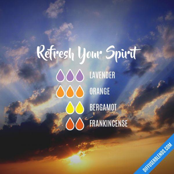 Refresh Your Spirit - Essential Oil Diffuser Blend lavender orange bergamot frankincense
