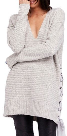 a714814d58d Women s Free People Heart It Laces Sweater. Lustrous chenille yarns bring  an extra measure of coziness to this amply sized sweater finished with  pretty ...