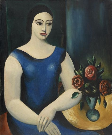 Girl in a Blue Dress (1926) by Christopher Wood