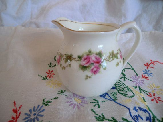 Vintage / Antique China Aynsley Milk Jug and by PrettyVintageHome