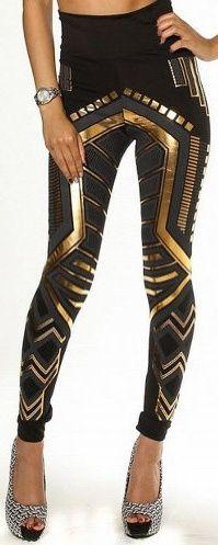 Fashion Forever -art deco leggings.: