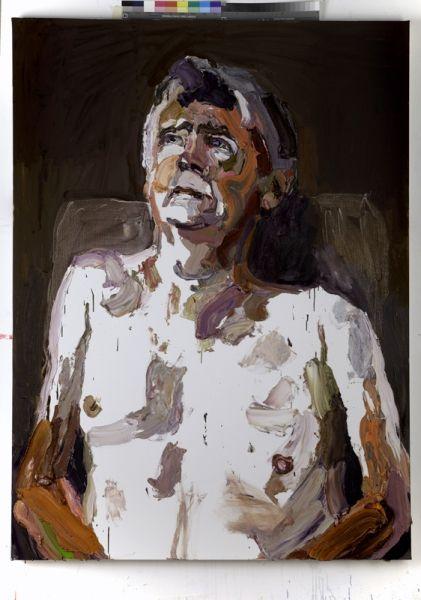 """Ben Quilty """"Dad"""" 2012 Oil on linen 190 x 140 cm"""