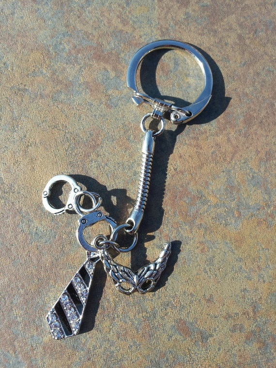 Fifty Shades Keychain by TwoPrincesnTheBeads on Etsy, $15.00