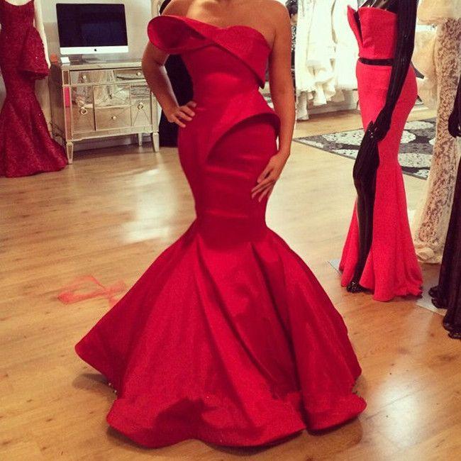 Sexy Formale Satin Beste Lange Einbau Nixe-abschlussball-kleid-schatz Rot Fischschwanz Kleid Abend 2015 Sommer Kleid //Price: $US $148.55 & FREE Shipping //     #cocktailkleider