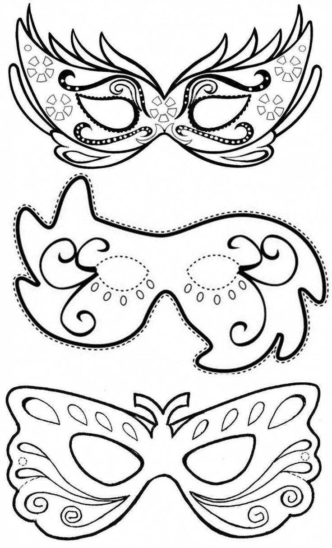 máscara de carnaval  moldes para fazer colorir e