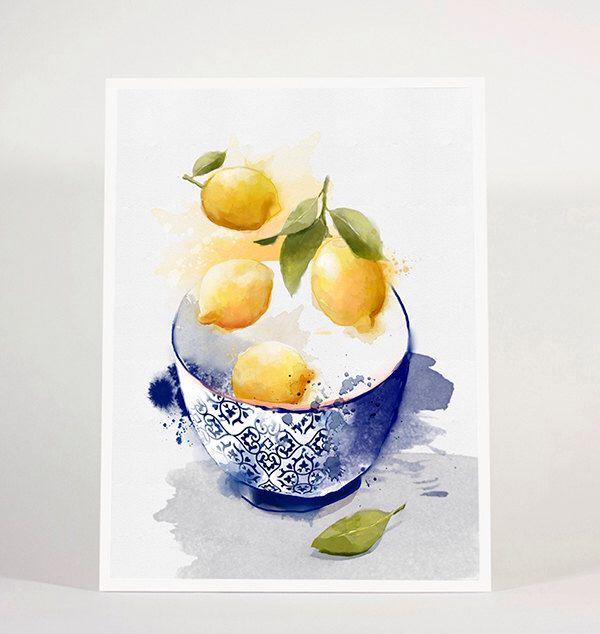 Limoni & Blue / agrumi OFF in VENDITA, limone, 30%, blu, cucina, cibo, moda, arte in tavola, decorazione, arredamento, arte, poster, 8x10in di matejakovac su Etsy https://www.etsy.com/it/listing/495329477/limoni-blue-agrumi-off-in-vendita-limone