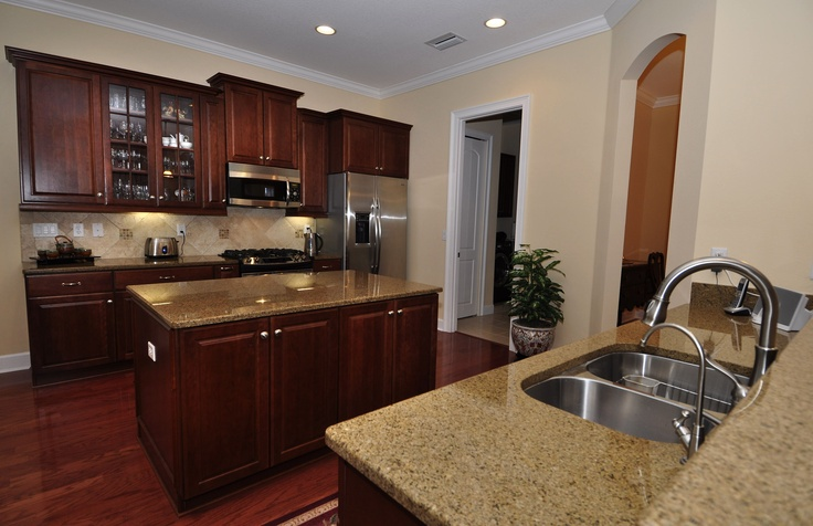 Dark Cherry Cabinets Love Them Kitchen Design