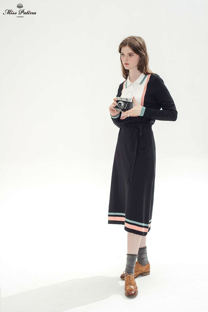 Girl About Town Dress (Black) - Miss Patina - Vintage Inspired Fashion