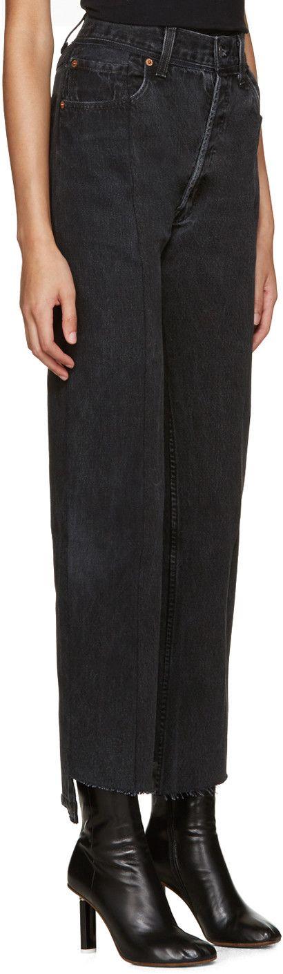 Vêtements - Черные джинсы переработан