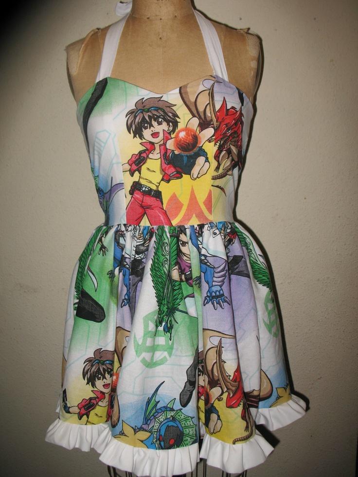 Bakugan Ruffled SweetHeart Mini Dress by SweetHeartClothing, $135.00
