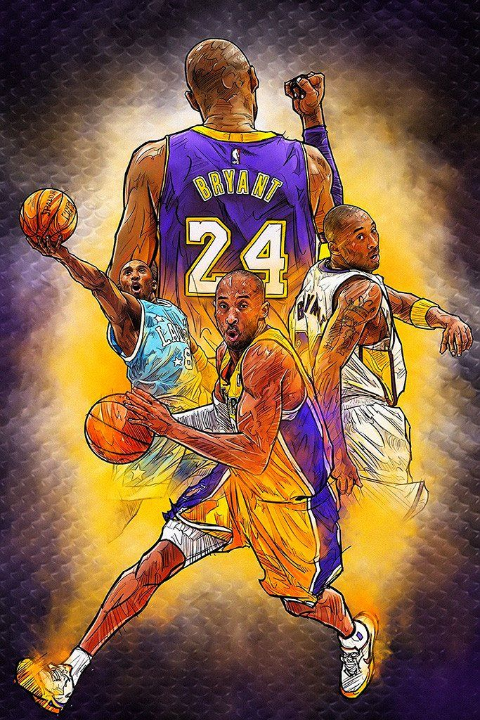 Kobe Bryant Retirement Game Basketball NBA Poster Kobe