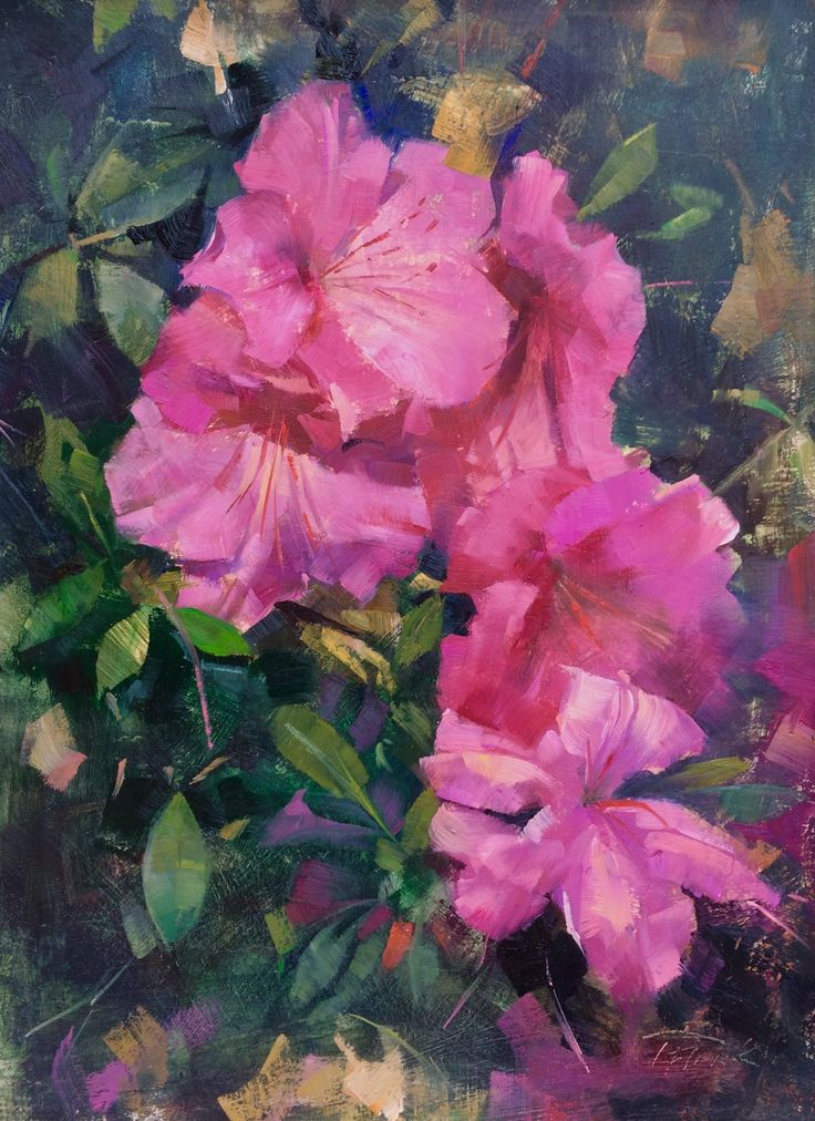 Historic London Town and Gardens on Chesapeake Bay was an idyllic place for this year's Paint Annapolis artists to spend the day Wednesday. Patrick painted these pink azaleas there. The gardens were so lovely it was hard for him to choose what he wanted to paint! #pleinairstreaming #patricksaunders #patricksaundersfinearts #paintannapolis #maryland #pleinairpainting #oilpainting #pleinair #enpleinair #floralpainting #pinkazaleas