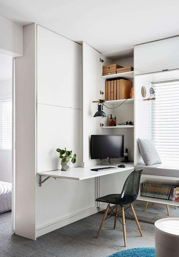 Platzsparende Möbel für diese Wohnung und das Home Office