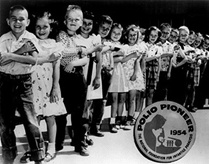Getting a polio shot in school in the 1950s. Thank you, Dr. Salk.