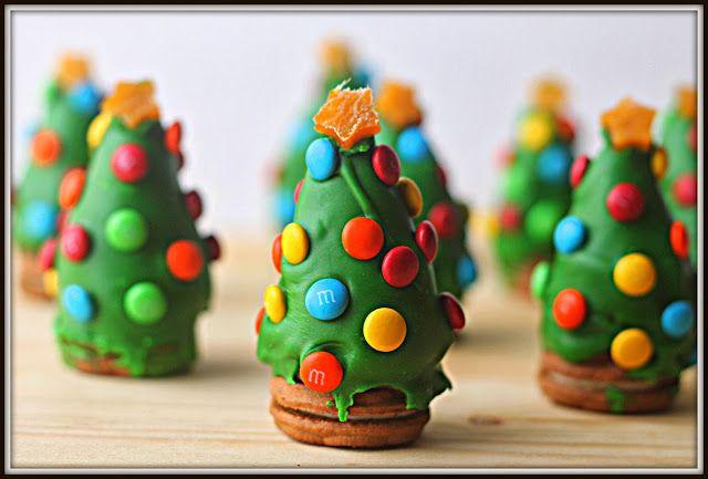 Sapins de Noël en truffes d'Oreo