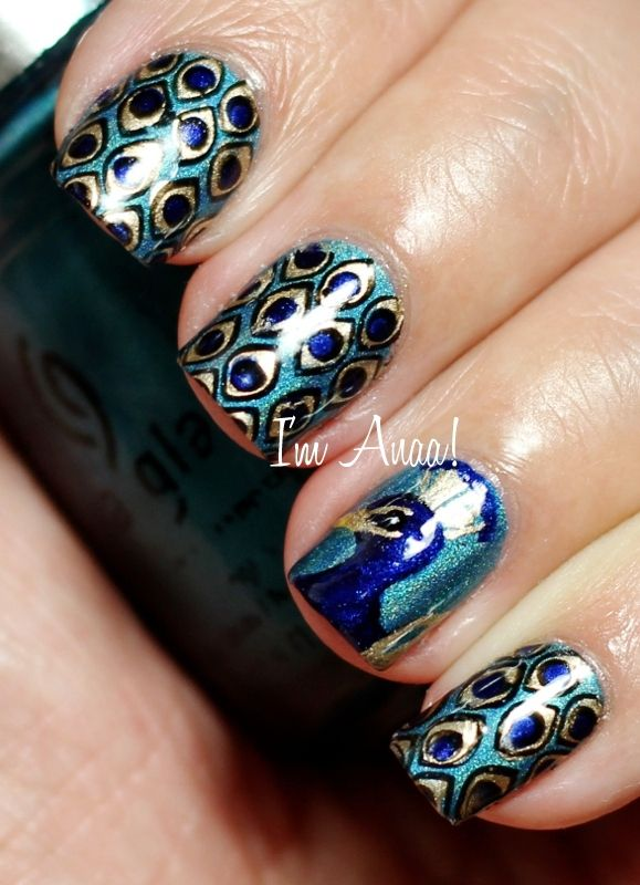 25 trending peacock nail designs ideas on pinterest peacock 42ffa683f1a53e1572c496a34564998e peacock nail designs peacock nailsg prinsesfo Images