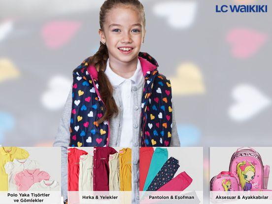 Zil çaldı! Küçük prensesinizin için rengarenk okul kıyafetleri LC Waikiki'de.