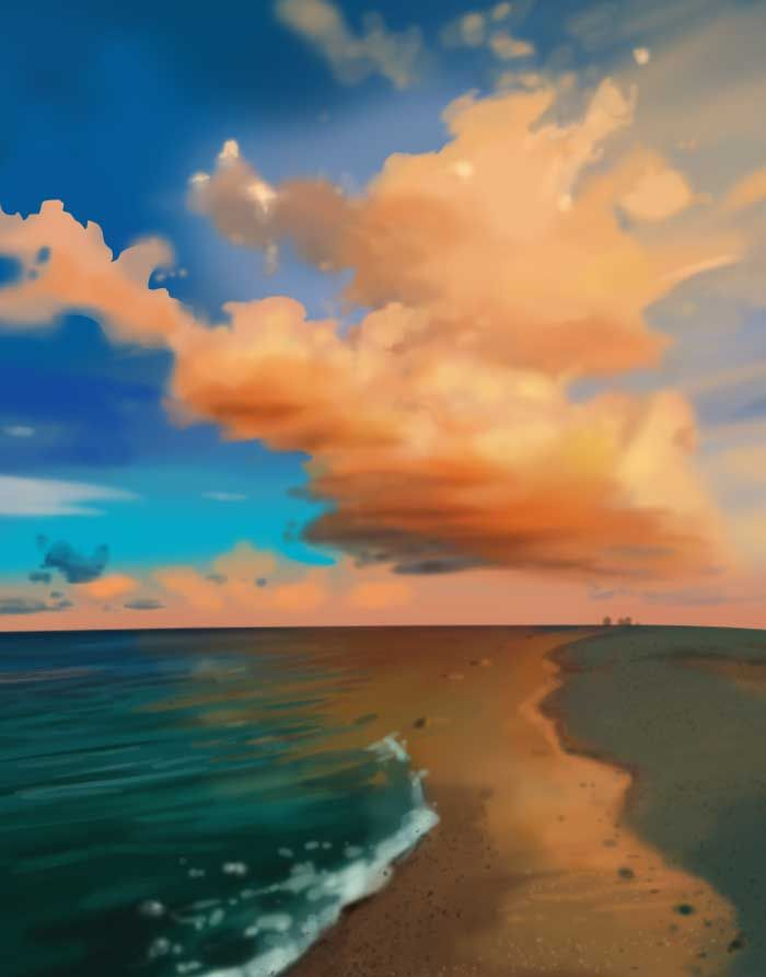 speed painting/Park Eun Gang/40min./cloud