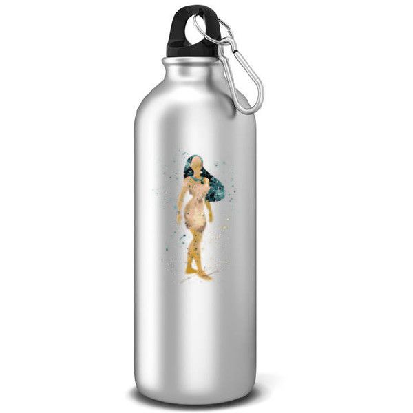 Pochahontas Sports Water Bottle Disney Inspired Aluminum Water Bottle... ($15) ❤ liked on Polyvore featuring home, kitchen & dining, drink & barware, drinkware, home & living, silver and water bottles & vacuum flasks