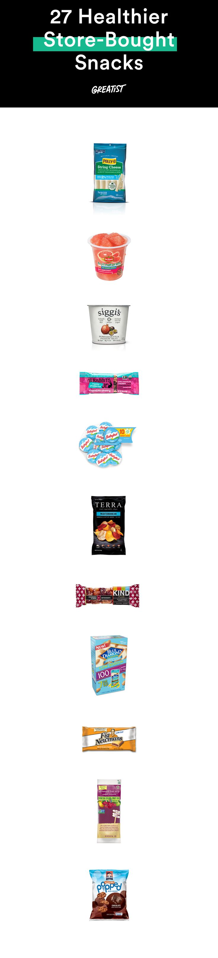 Eating healthy while on the go isn't just a pipe dream if you grab one of these bites. #healthy #snacks #groceries http://greatist.com/health/31-healthier-store-bought-snacks-under-150-calories