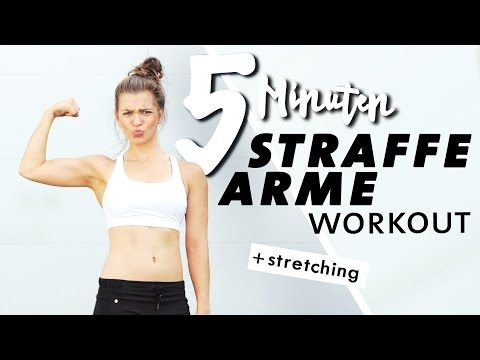 Workout für straffe Arme | 5 Minuten Kurz & Intensiv + Stretching | Zuhause tra… – Yoga