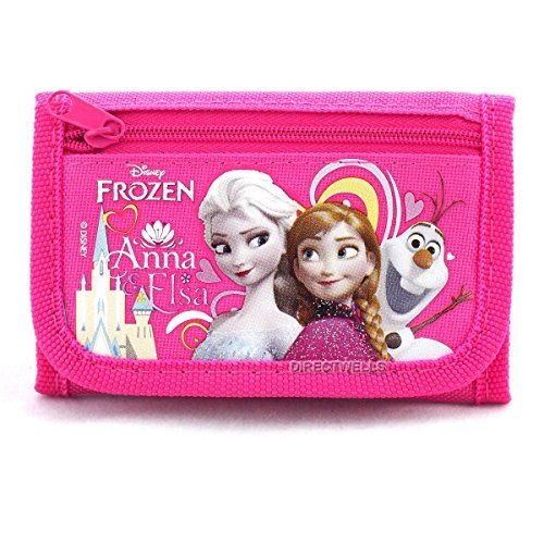 Slumber Bags - Disney Frozen Elsa Anna and Olaf Character Hot Pink Trifold Wallet ** You can find out more details at the link of the image.