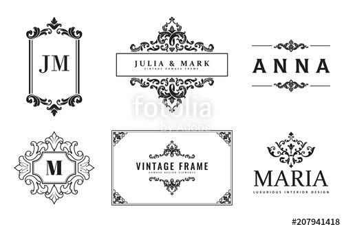 Monogram Templates | Vektor Vintage Logo Monogram Templates Branding Graphic Design