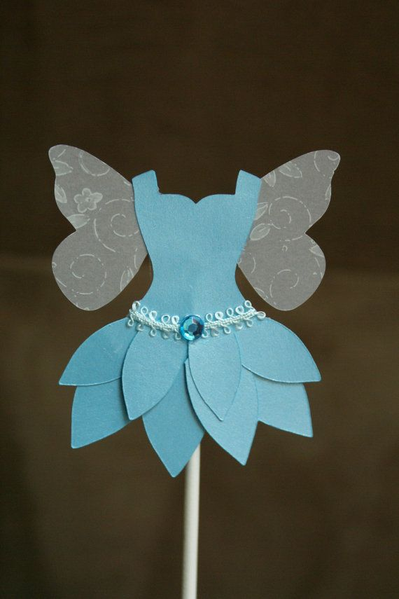 Cupcake Toppers  Blue Fairy  Qty 18 by MamiesPaperCrafts on Etsy, $15.00