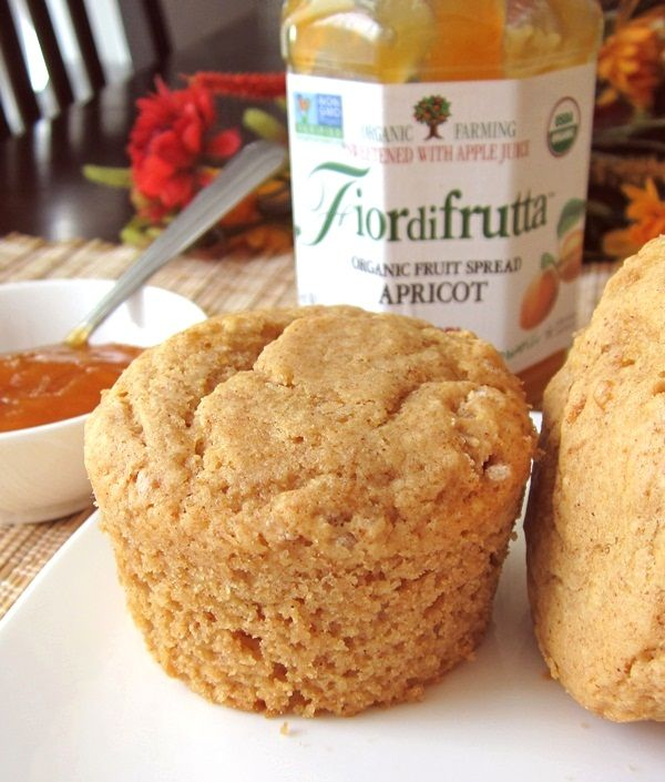 Cinnamon apricot muffins. Infused with fruit-sweetened jam, these apricot muffins can easily be enjoyed all year long. I've included my gluten-free option - no xanthan gum required!