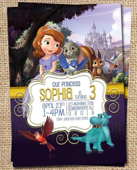 Princess Sofia Invitation Sofia the first by DHDigitalDesign