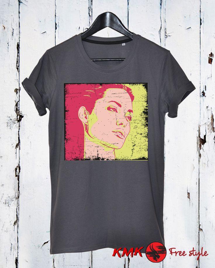 Angelina Jolie T-shirt / Angelina Jolie Tee / Famous Actress Tshirt / T shirt all sizes - XS, 5XL / Loose T-shirt / Slim Fit Tshirt by KMKDIGITAL on Etsy