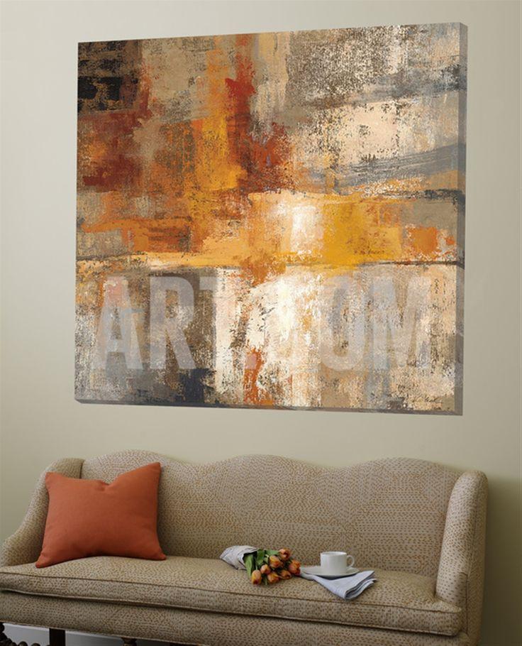 Silver and Amber Crop Loft Art by Silvia Vassileva at Art.com