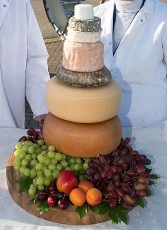 Did you know…  … a cheese tower featuring New Forest cheeses was shipped to The British Consul in Munich, for Her Majesty's Birthday, on board a bmi plane, from Southampton airport.