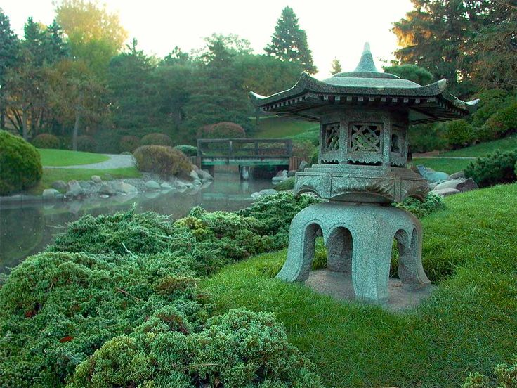 A Stone Lantern in the Japanese Garden at Normandale #Minnesota