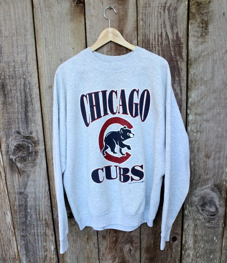 Vintage 1995 Chicago Cubs Crewneck Sweatshirt Made in USA Mens Size XXL