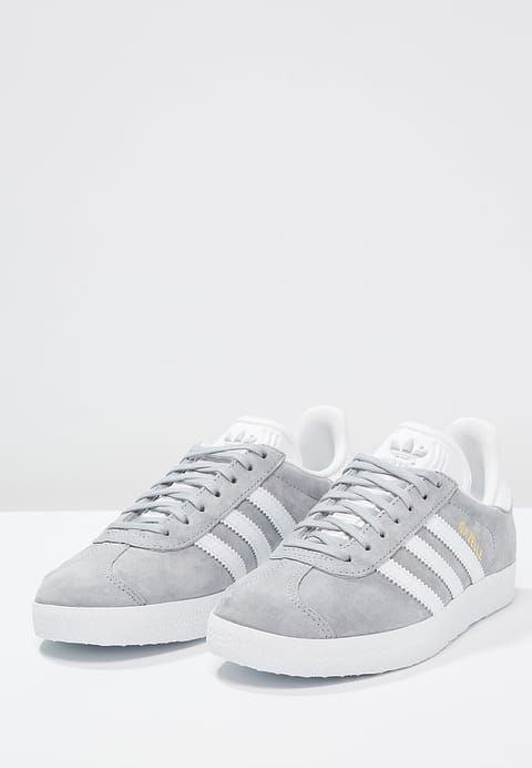 GAZELLE - Sneaker low - mid grey/white/gold metallic. Adidas ...