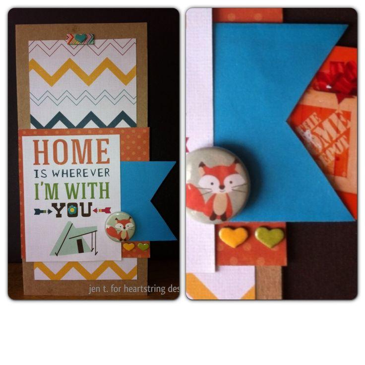card i made using the heartstring designs july summer lovin kit