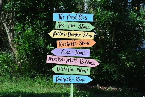 Gift For Parents Garden Yard Decor Wooden Directional Sign Etsy Beach Signs Family Name Signs Directional Signs