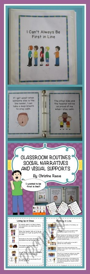 Do you have the kid on the cover in your class?  I've met him many times.  This is a set of social narratives for providing expectations, perspective, and coping strategies for the classroom routines of raising hands to talk, lining up and walking quietly in the hall, and following teacher's direction. Great for a variety of student in addition to those with autism.