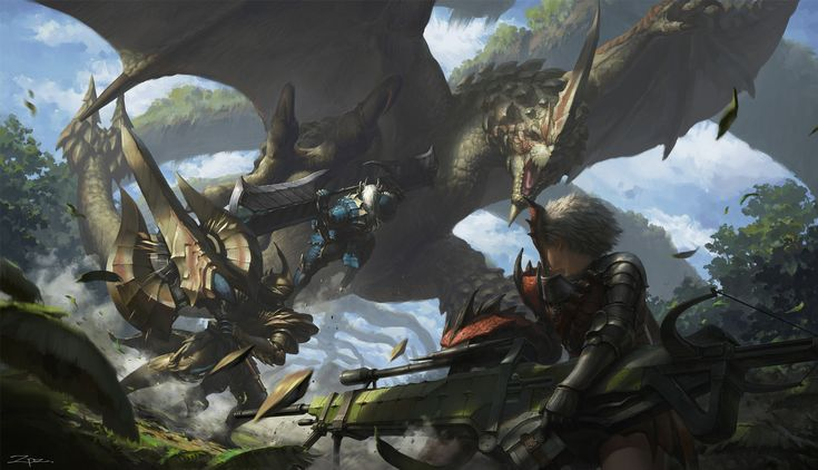 Monster Hunter, zhang pengzhen on ArtStation at https://www.artstation.com/artwork/monster-hunter-4493ca64-b604-4857-9310-959a910a7388