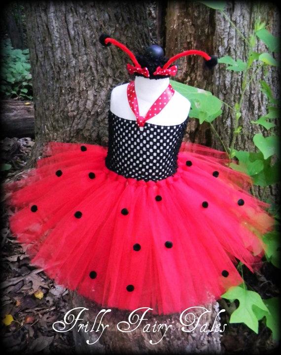 Ladybug Tutu Dress by FrillyFairyTales on Etsy, $40.00