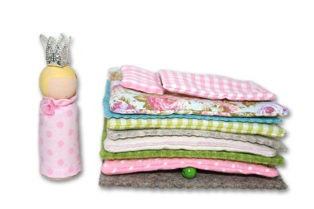 Puppen - PRINZESSIN AUF DER ERBSE zum Mitnehmen © - ein Designerstück von sternchen-design bei DaWanda