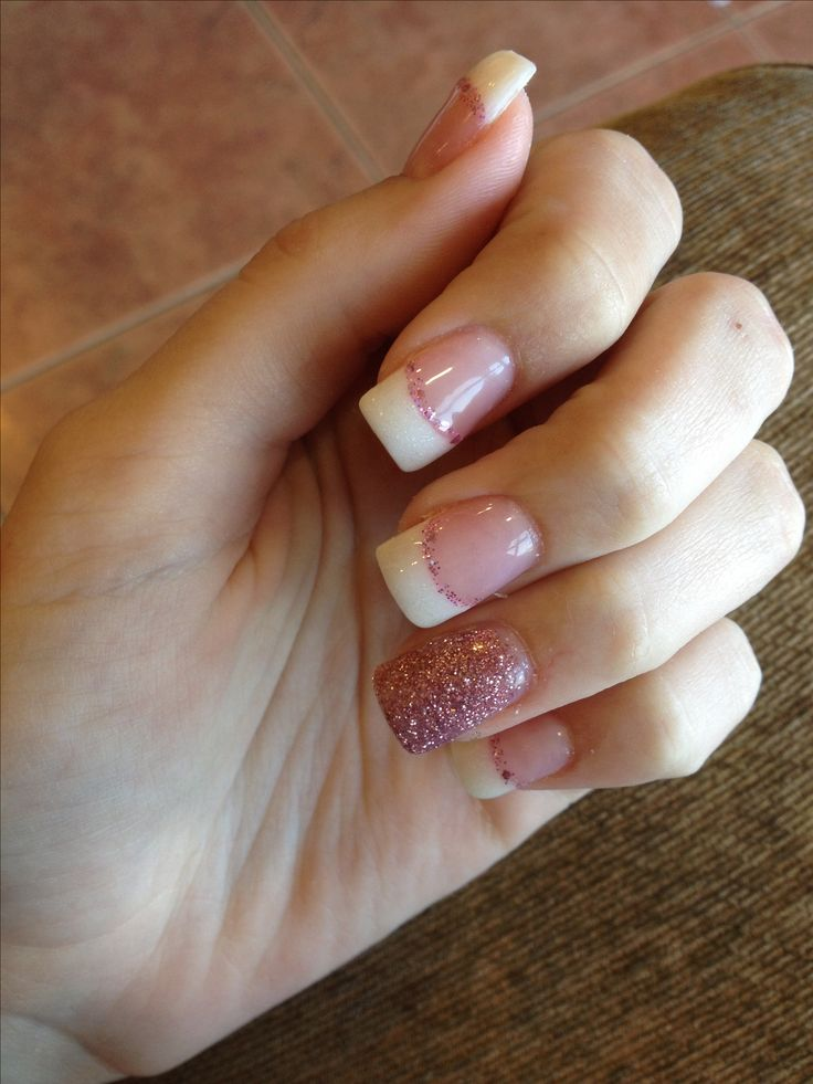 acrylic nails simple french tip