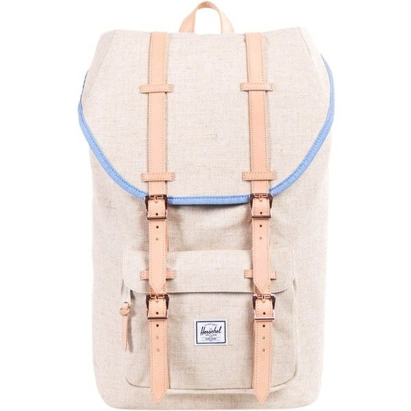 Herschel Little America Hemp Pack ($136) ❤ liked on Polyvore featuring bags, backpacks, white, vertical-zip laptop backpack, herschel, laptop rucksack, backpack laptop bag and white backpack