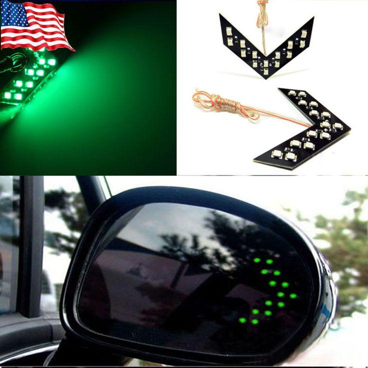 Бесплатная доставка стайлинга автомобилей 14 СМД из светодиодов стрелка панель для автомобилей зеркало заднего вида индикатор указатель поворота автомобиля из светодиодов парковка купить на AliExpress