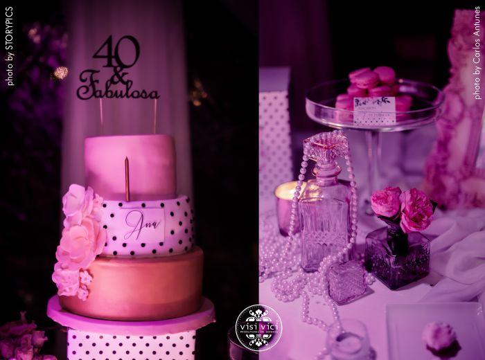 O bolo e a mesa com aqueles detalhes...  by VISI VICI
