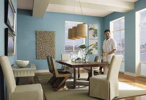incredible behr paint living room | Seaside Harmony Dining in 2019 | Trending paint colors ...