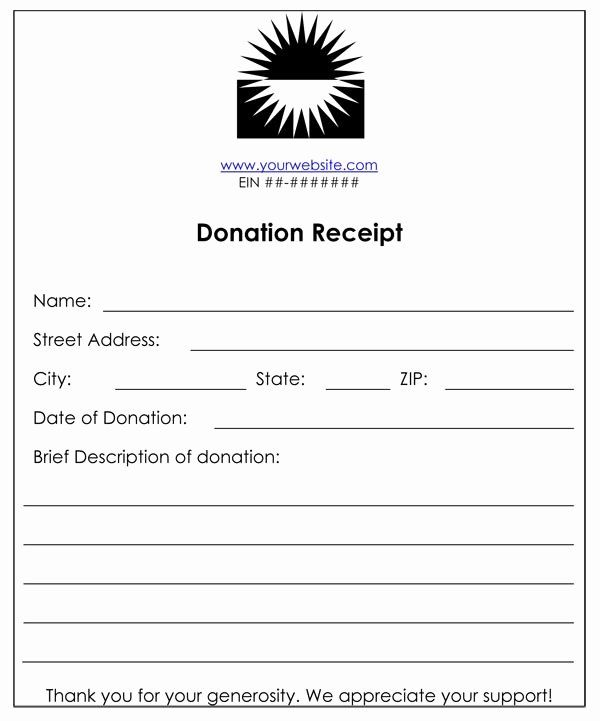 Charitable Donation Form Template Luxury Non Profit Donation Receipt In 2020 Non Profit Donations Receipt Template Donation Letter Template