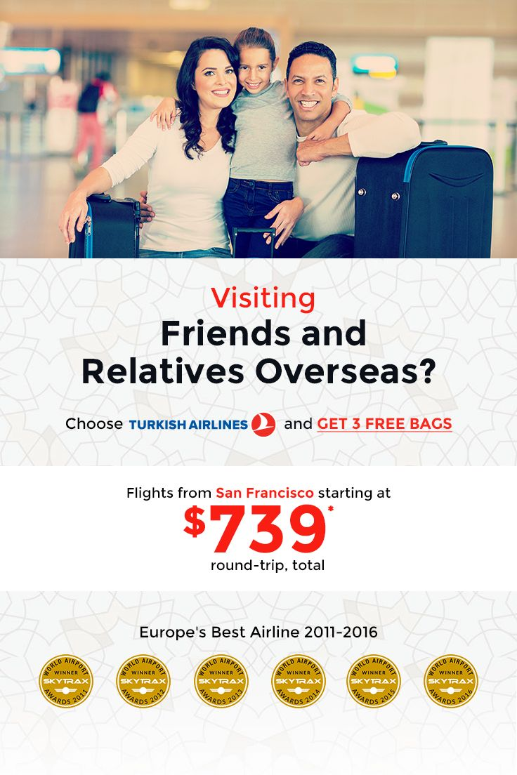 Massive discounts on flights from San Francisco to India, Egypt, Uganda, Iran, Nepal, Jordan, Pakistan, Lebanon and Israel. Enjoy extra baggage allowance - 3 FREE BAGS - for extra comfort! Click photo for more details on routes & prices. #flight #deals #airline #tickets #lastminute #turkishairlines