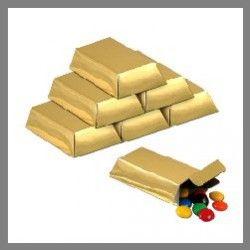 Lot de 12 Boîtes lingots d'or - thème pirate